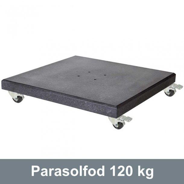 Parasolfod 120 kg i Granit med hjul